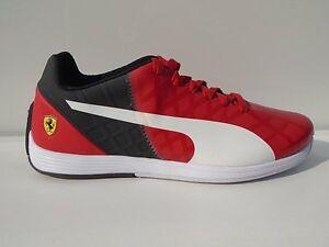 PUMA FERRARI EVOSPEED rosso Uomo Scarpe Tempo Libero Sneaker 1.4 SF NUOVO