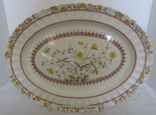 "COPELAND SPODE ENGLAND OLD MARK BUTTERCUP 17 X 13"" LARGE MEAT PLATTER"