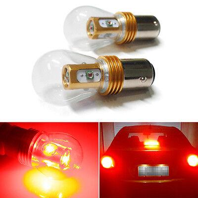 2 x High Power 25W 1157 BAY15D CREE LED Car Tail Reverse Light Brake Light Red