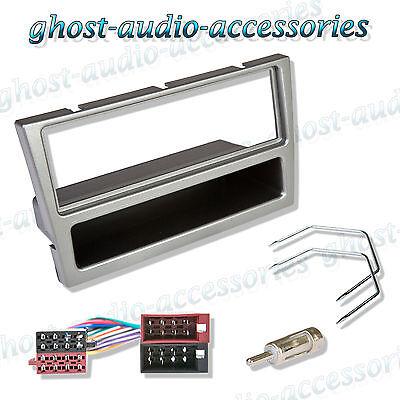 Vauxhall Black 2 DIN Car CD Radio Stereo Facia Fascia Adaptor Plate Fitting Kit