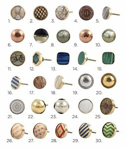 Gold-Copper-Silver-Brass-Metal-Cabinet-Knobs-Cupboard-Door-Knob-Draw-Pulls