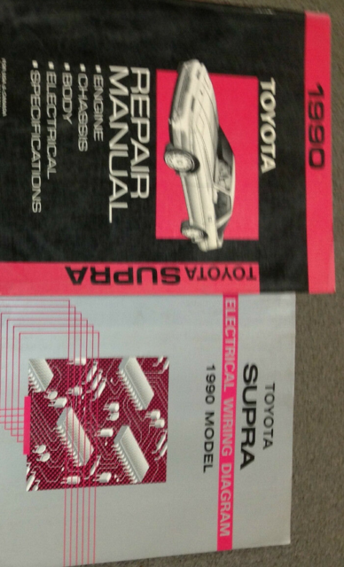 1990 Toyota Supra Service Shop Repair Workshop Manual Set Oem W Ewd