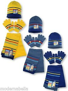 Minions Set cappello sciarpa guanti CATTIVISSIMO ME bimbo bambino cuffia 52/54