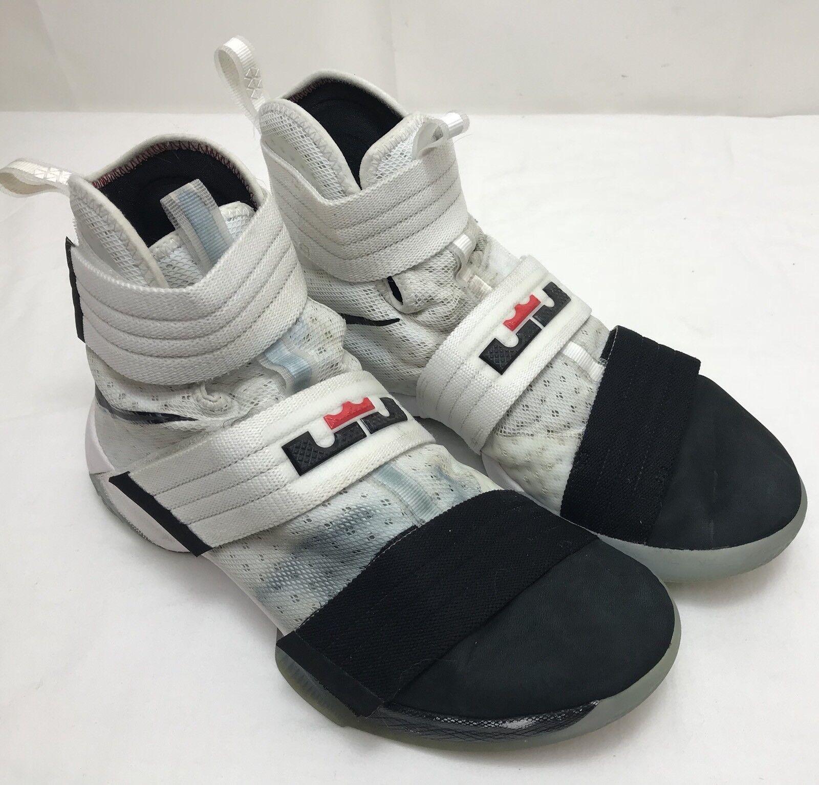 Uomo / nike lrj sx 16 / Uomo 17 lebron james soldato nero / bianco scarpe taglia 9 b4c72b