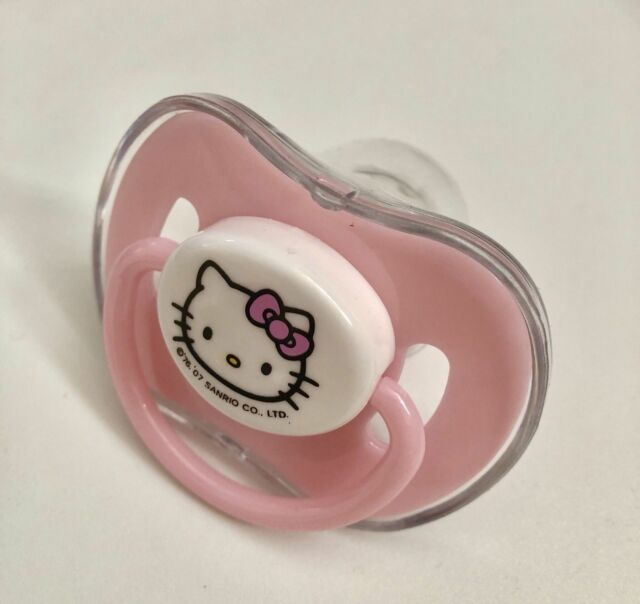 Clip As Gift!! Baby Pacifier Bling Nipples Gold Dummy Cocka Chupeta Hello Kitty