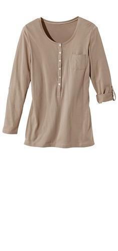 S 36//38 neu 2 Stück Damen T-Shirt lamgarm zum Krempeln grau 774 und oliv 559 Gr