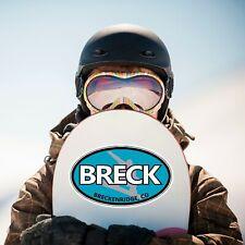 Black Breck oval sticker decal ski snowboard Breckenridge Colorado town resort