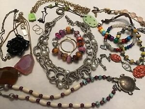 Junk Jewlery Draw 14 Piece Mixed Lot Fashion Jewelry Craft Sell Wear Ebay
