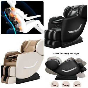 ✨Electric Full Body Shiatsu Massage Chair Recliner Zero Gravity w/Heat 3 yrs WTY
