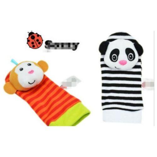 Newborn Baby Soft Rattles Handbells Hand Foot Socks Developmental Kids Toys UK