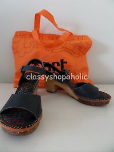 40e80a05ff5 Image is loading Art-Black-Leather-Amsterdam-Sandals-Size-38-UK-