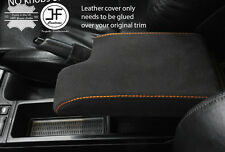 ORANGE STITCHING REAL SUEDE ARMREST COVER FITS BMW 3 SERIES E46 1999-2005