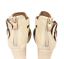 thumbnail 8 - Womens Ladies Beige Faux Leather High Heel Peep Toe Sandals Shoes Size UK 3 New