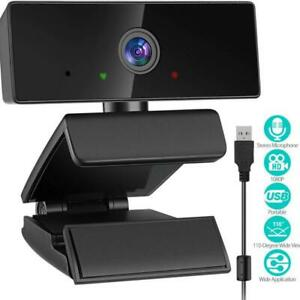 Pulselabz Webcam Microphone 1080P HD PC Laptop Plug and Play USB Computer Web Camera Online Video Calling Recording Canada Preview