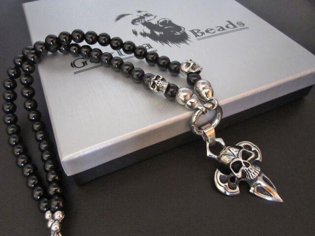 Halskette Onyx  Edelstahl Anhänger   Kette  Handmade