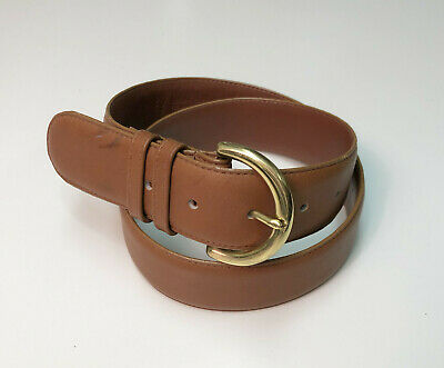 COACH 8500 British Tan Genuine Leather Belt
