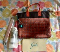 Gabs Convertible G3 Large Brown Orange Leather Tote Shoulder Bag Italy