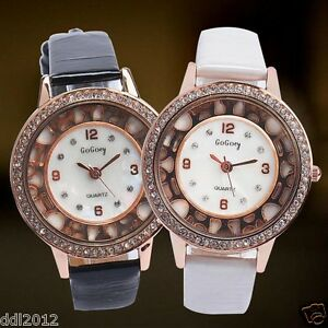 Fashion-Women-Crystal-Rhinestone-Dial-Lover-Watch-Leather-Band-Mechanical-Watch