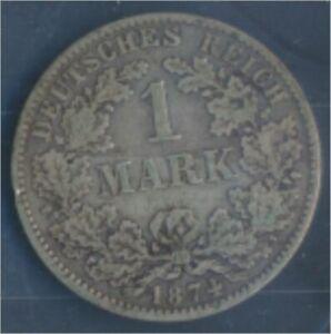 German-Empire-Jagerno-9-1874-e-very-fine-Silver-1874-1-Mark-7849051