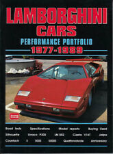 Lamborghini Book Portfolio Brooklands Performance Countach Cizeta P300 1977 1989 Fits Lamborghini Jalpa