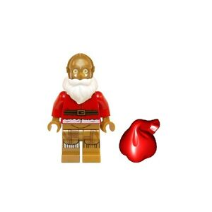 lego star wars minifigure c 3po c3po santa christmas. Black Bedroom Furniture Sets. Home Design Ideas