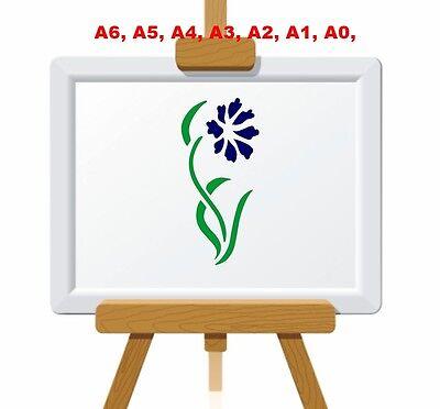 Single Central Rose Design Stencil 350 micron Mylar not thin stuff #FL005
