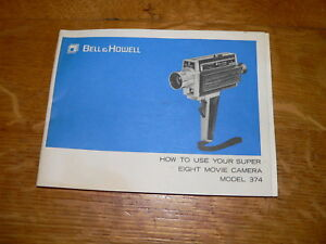 Details about Original Bell & Howell model 374 Super-8 Movie Camera  Manual~Excellent Cond
