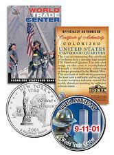 * 4th Anniversary * World Trade Center 9/11 U.S. MINT New York State Quarter