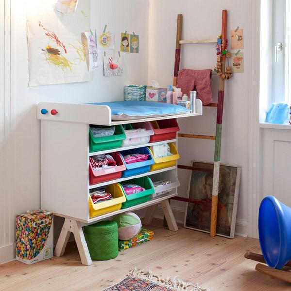 Famille garage – matelas à langer – richard Lampert mobilier pour enfants Design NOUVEAU