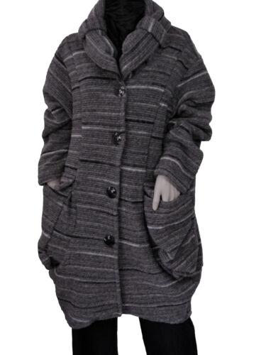 Gr42 Grau Longjacke d'hiver 44 femme Manteau Kurzmantel Italia Wollmantel 8vN0wnm
