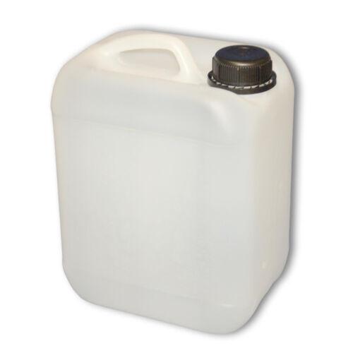 Leerkanister Behälter 5 L natur mit Deckel aus Plastik und Kunststoff-Zapfhahn