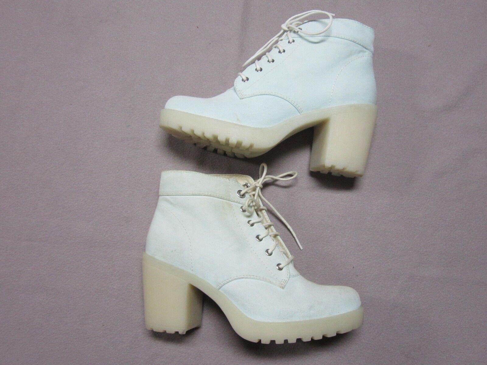 VAGABOND BRAND Damenschuhe MINT LIGHT Blau CLEAR RUBBER HEELS Schuhe SIZE 6 NEU RARE