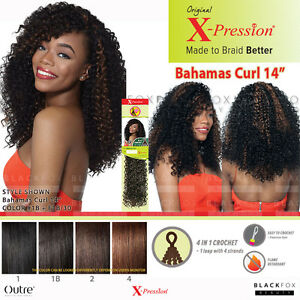 OUTRE X-PRESSION Bahamas Curl 14u0026quot; 4 in 1 Loop Crochet Synthetic Braid   eBay