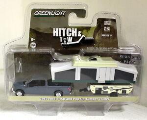 Greenlight-1-64-Scale-2015-Ford-F-150-Pop-up-Camper-Trailer-Diecast-model-car