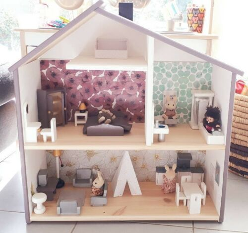 Light Purple Wooden Doll House Systems from Australia