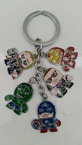 Marvel-Avengers-Superheroes-Hulk-Ironman-Thor-Hawkeye-Keyring-Keychain