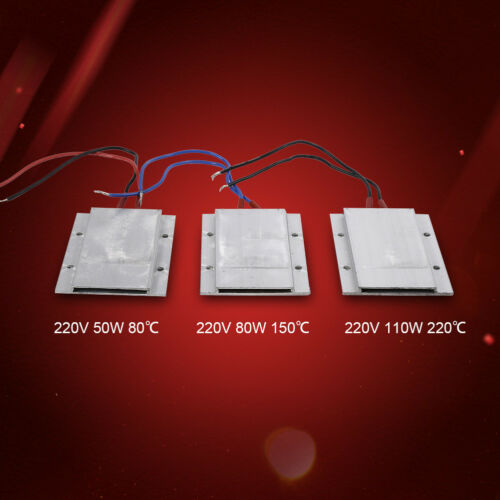 1Pz 50//80//110W 80-220℃ Riscaldatore PTC Termostato Elemento Riscaldante Piastre