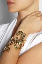 Emilio Pucci Gold Plated Wide Bracelet Cuff - Boxed