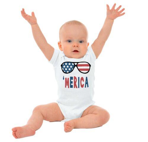 Merica America USA Flag Gerber OnesieUnited States Stars Stripes Baby Romper