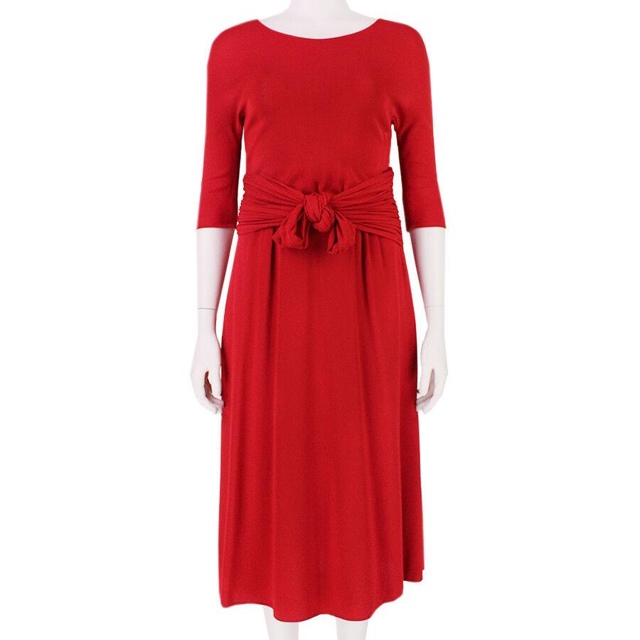 Giambottista Valli Elegant Pillar låda röd Gatheröd Waistline Dress IT42 UK10