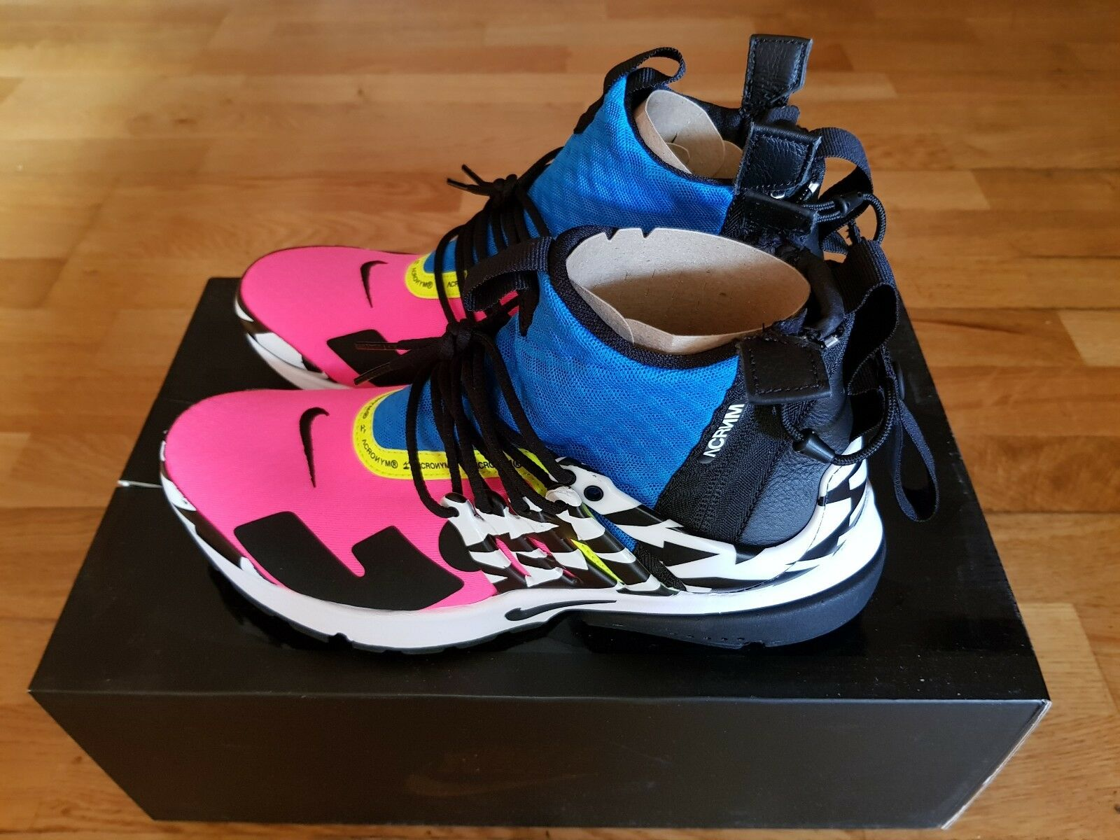 Nike Air Presto x Acronym Mid Racer Pink bluee, US 8, Brand New DS