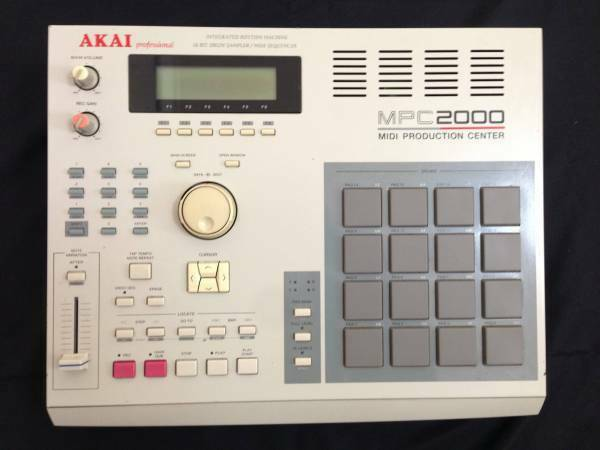 Akai MPC2000 MIDI PRODUCTION CENTER W  Adapter Cable Tested Working Used