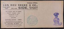 Advertising Cover - Van Der Velde & Co, Newcastle-On-Tyne, Rubber Stamp Makers