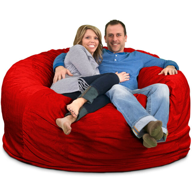 Super Ultimate Sack 6000 Bean Bag Chair Multiple Colors Materials Avail Foam Unemploymentrelief Wooden Chair Designs For Living Room Unemploymentrelieforg