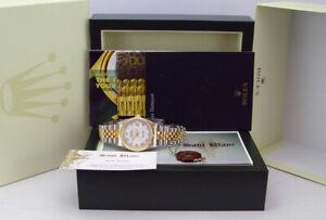 ROLEX 36mm 18kt Gold & Stainless Steel DateJust White Roman 16233 SANT BLANC