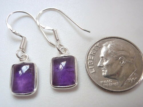 Amethyst rectangles 925 Sterling Silver Dangle Boucles d/'oreilles Corona Sun Jewelry k115b