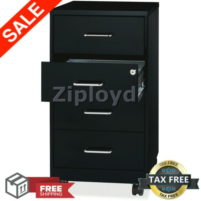Rolling Filing Cabinet Steel With 4 Drawer Mobile Storage