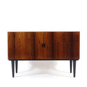 Retro Vintage Danish Rosewood Low Sideboard Cabinet 60s 70s Mid Century Design