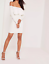 Missguided-long-sleeve-frill-bardot-bodycon-dress-white-M27-20 thumbnail 2