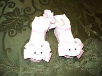 Mud Pie Baby Girl Easter Socks- Ruffles & Rabbits Pink Bunny Socks (0-12M)